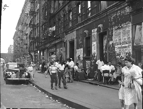 East 103rd Street between Park and Madison Avenues in East Harlem, September 7, 1951.  ID# 02.003.15248