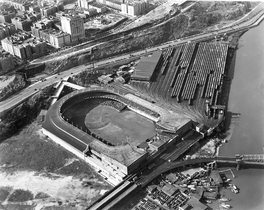 Photo was taken on or before September 29, 1957, which was the date of the last Giants game played in the Polo Grounds.<br> 